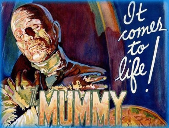 Posterul filmului Mumia, din 1932, ar putea fi vândut cu peste un milion de dolari